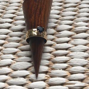 ✨✨💍 Hammered Gold 14k Sapphire (Dori?) Ring ✨✨💍